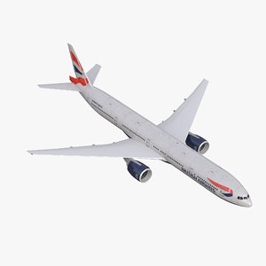 3d model boeing 777-300 british airways