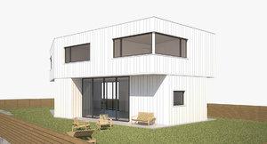 3d model of modern pavilion house