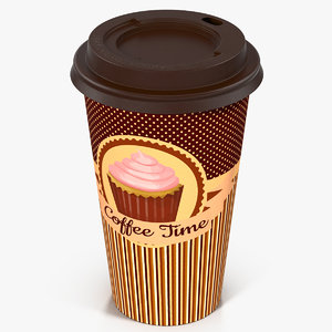 coffee cup takeout design 3d max