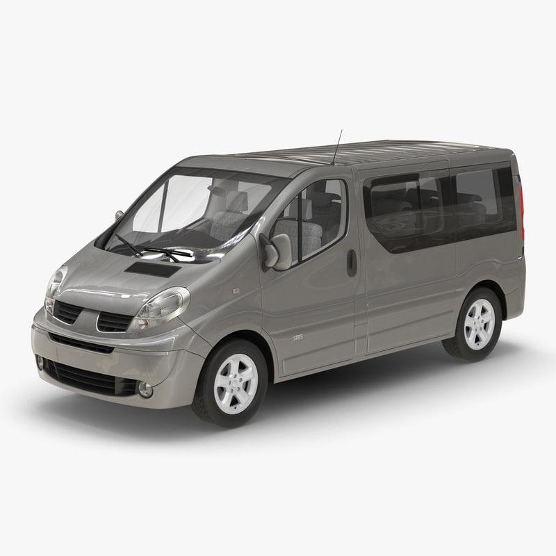 3d model generic passenger van 2