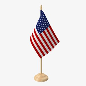 desktop flag 3d model