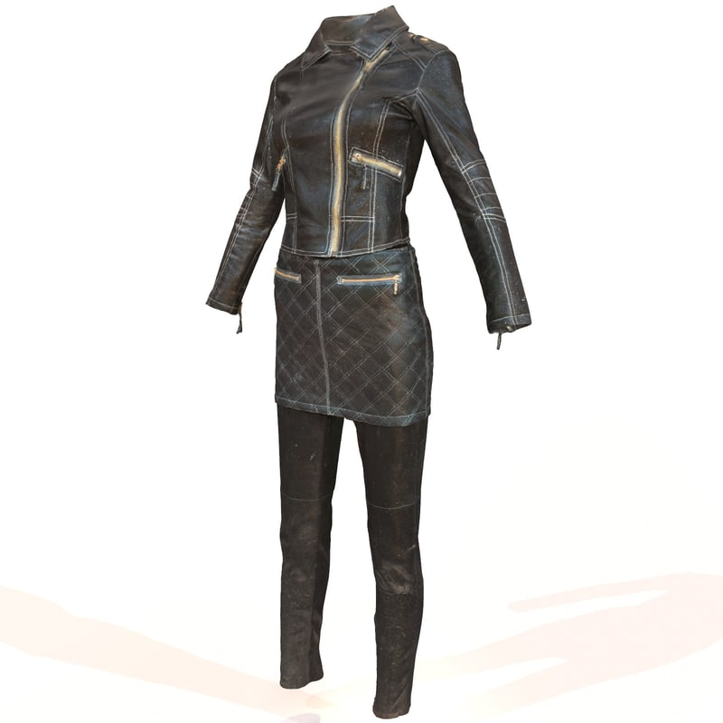 shiny leather obj
