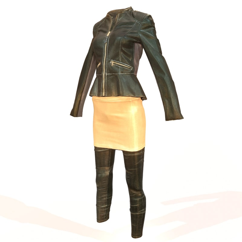 3d model shiny outfit