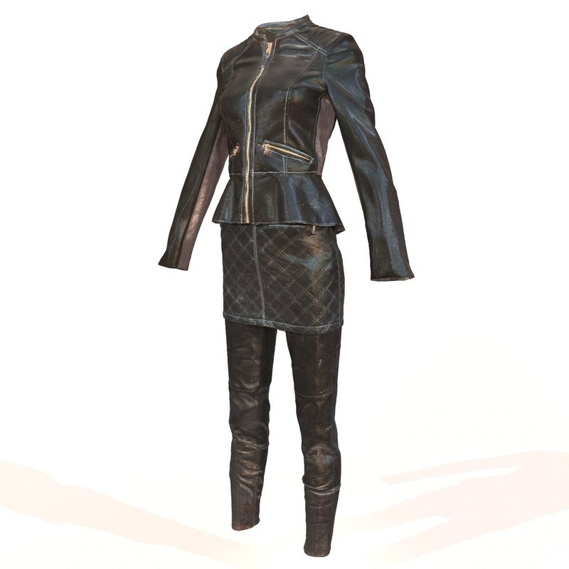 3d model of shiny leather