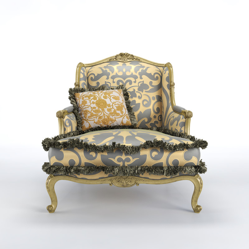 3d bruno zampa clementine armchair model