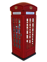 Phone Box UK (Old Red)