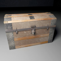 3d old chest
