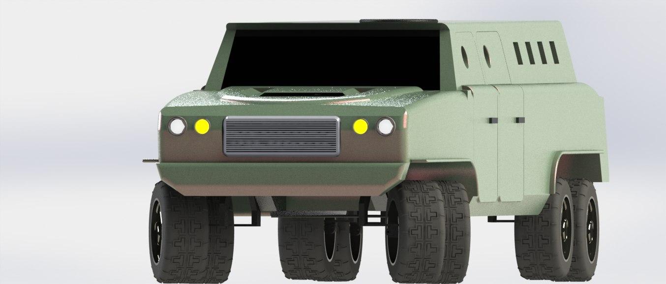 truck armour 3d 3ds