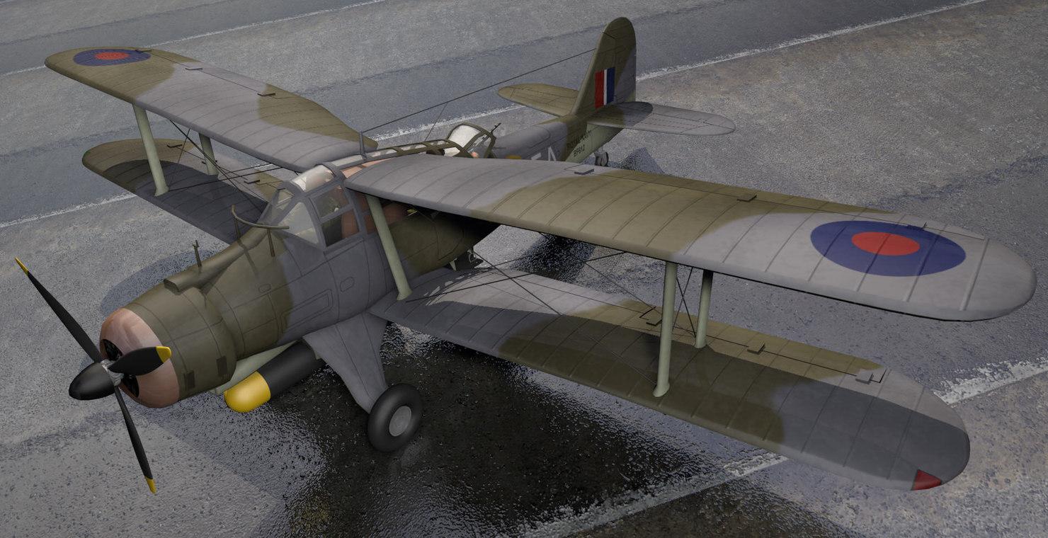 3d fairey albacore model