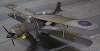 3d fairey albacore model