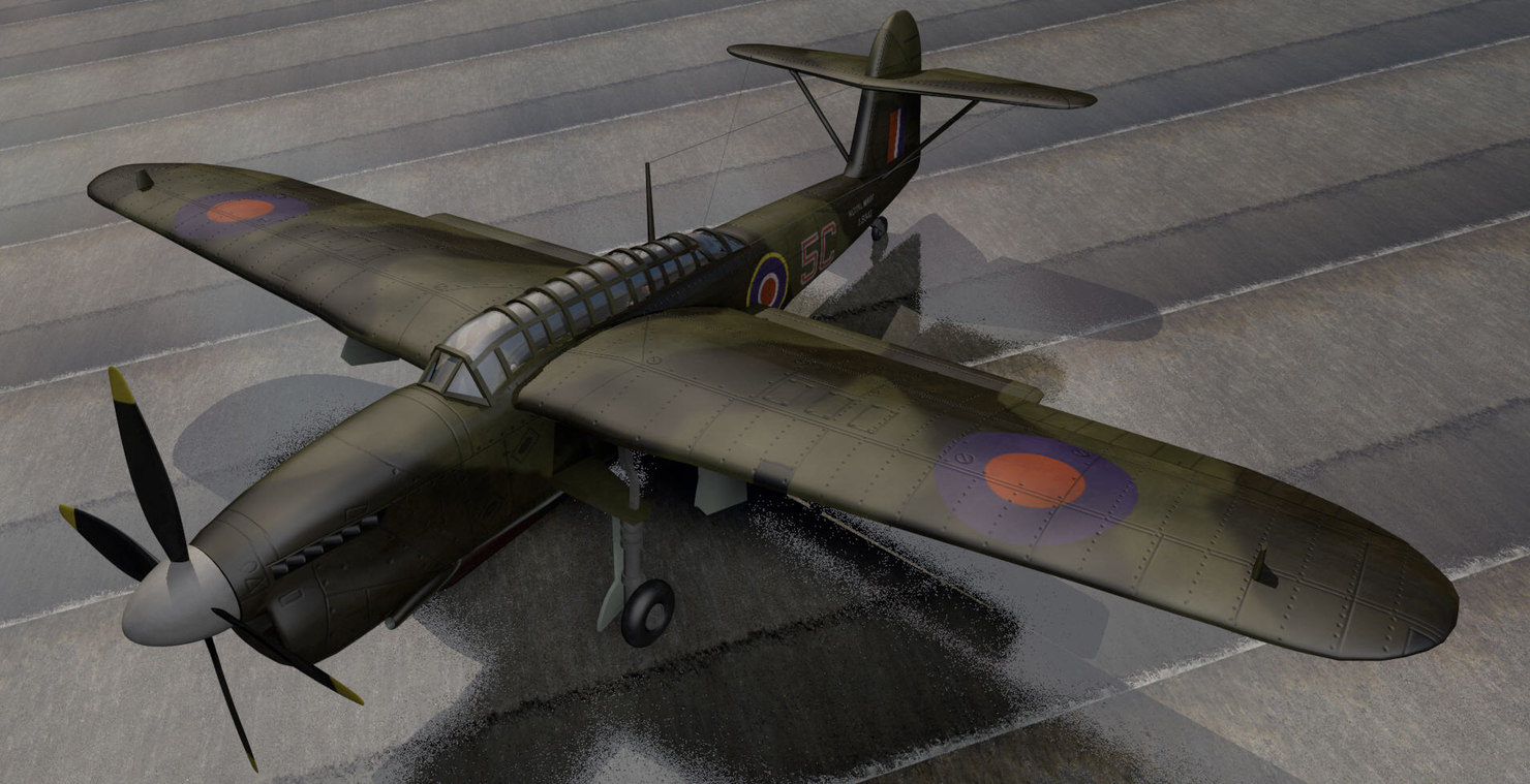fairey barracuda mk-2 bomber 3d model