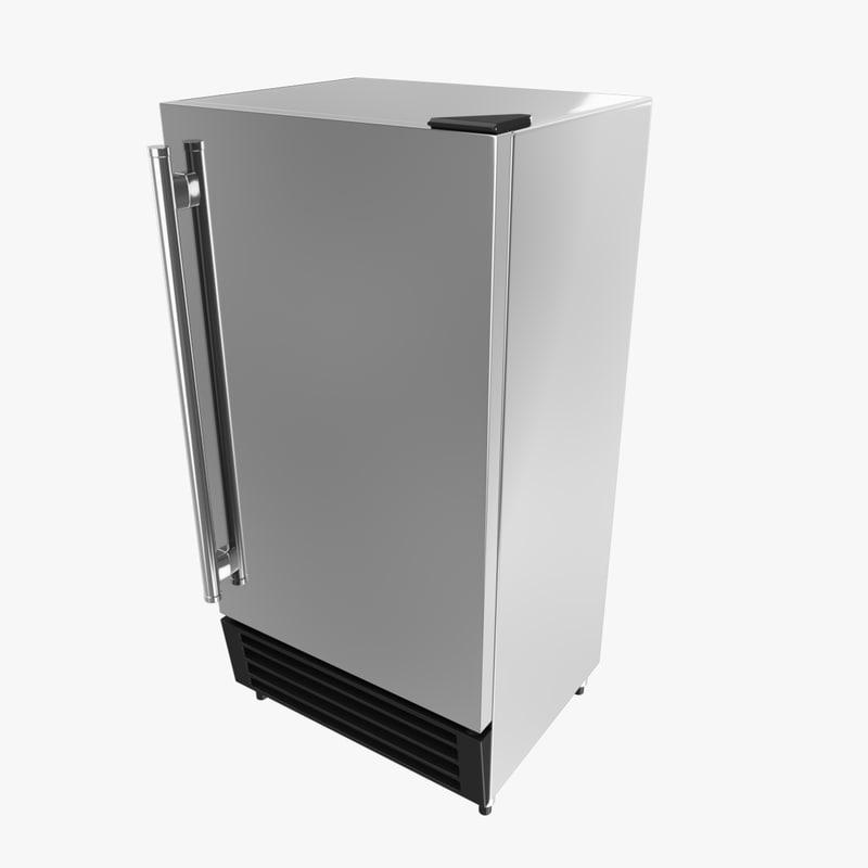 3d industrial fridge model