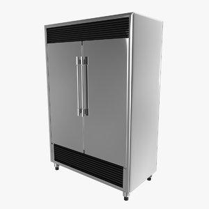 industrial fridge 3d model