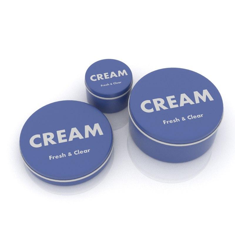 3d cosmetic cream model