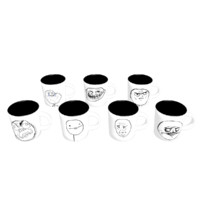 Coffe mugs with Meme faces (7 mugs)