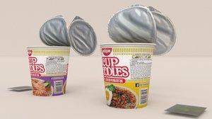 blend nissin instant cup noodles