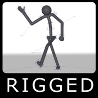 rigged stickman 3d model