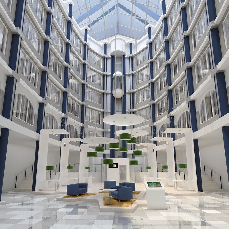 3d model atrium interior