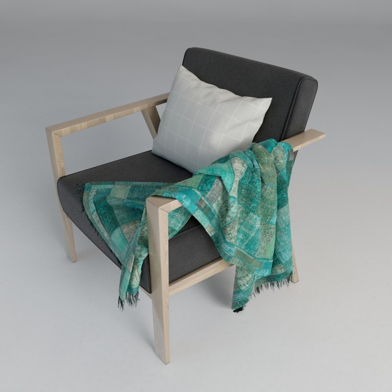 ikea chair seat 3d max
