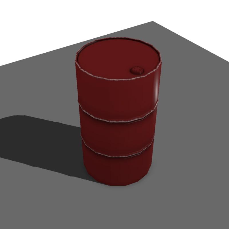 metal barrel x