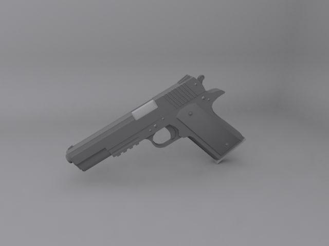 3d modern 1911 pistol