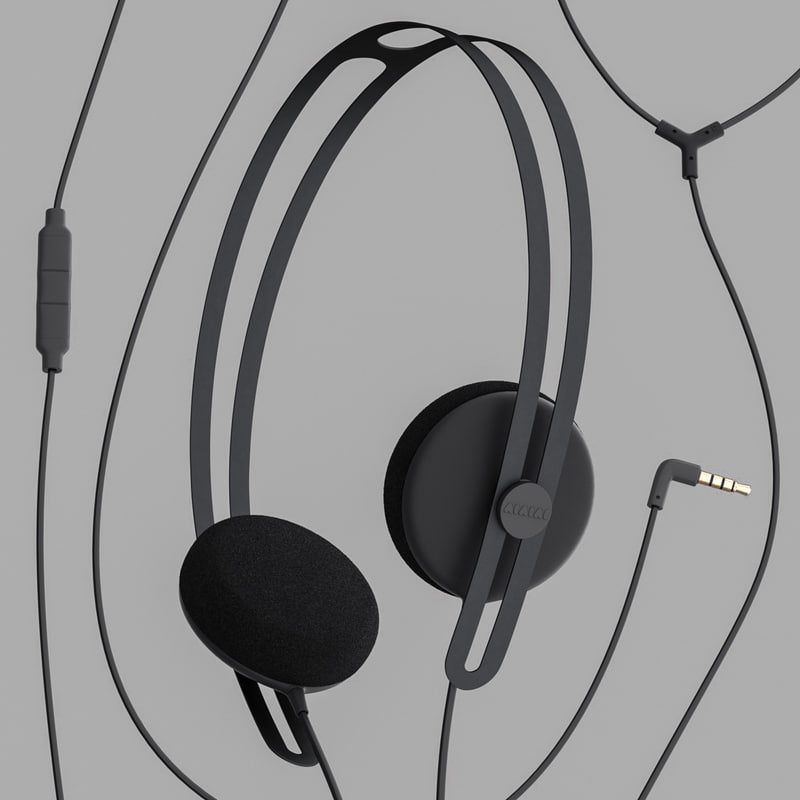 3d model aiaiai tracks headphones