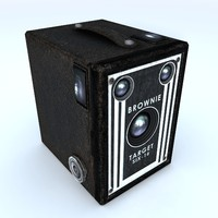 brownie vintage camera 3d max