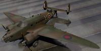 3d model rare planes lockheed hudson
