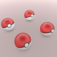 pokeball pokemon 3d c4d