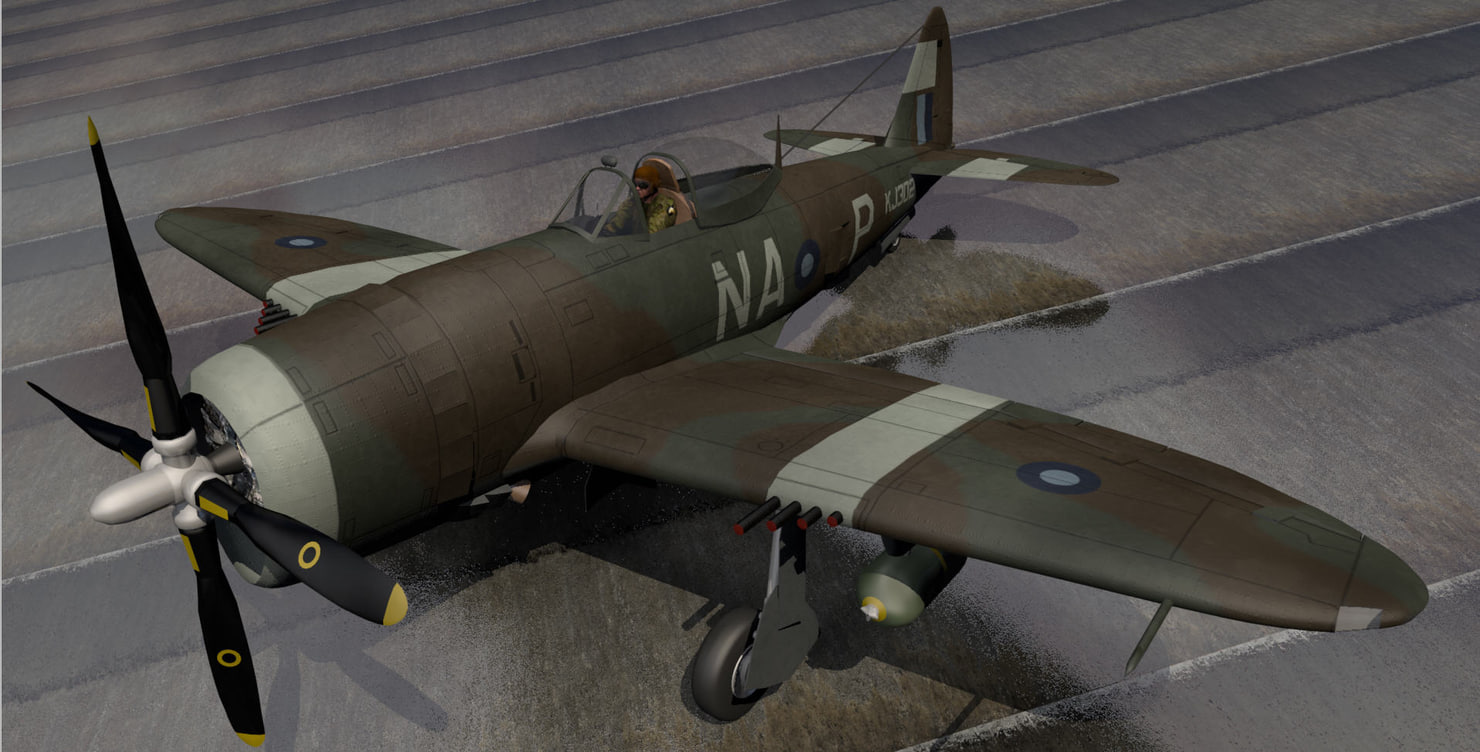 republic thunderbolt mk-2 raaf 3d 3ds