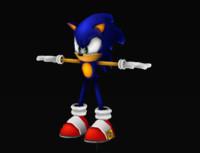 Sonic_Lowpoly_Handpainted