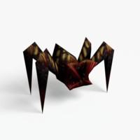 3d spider enemy model