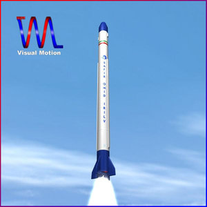 3d safir space launch vehicle model
