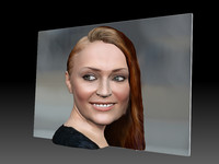 3D Photo of Sophie Turner ready for 3d print