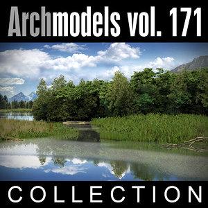 3d archmodels vol 171 trees