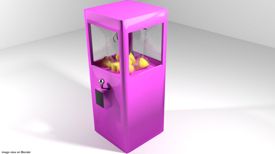 3d model arcade claw crane