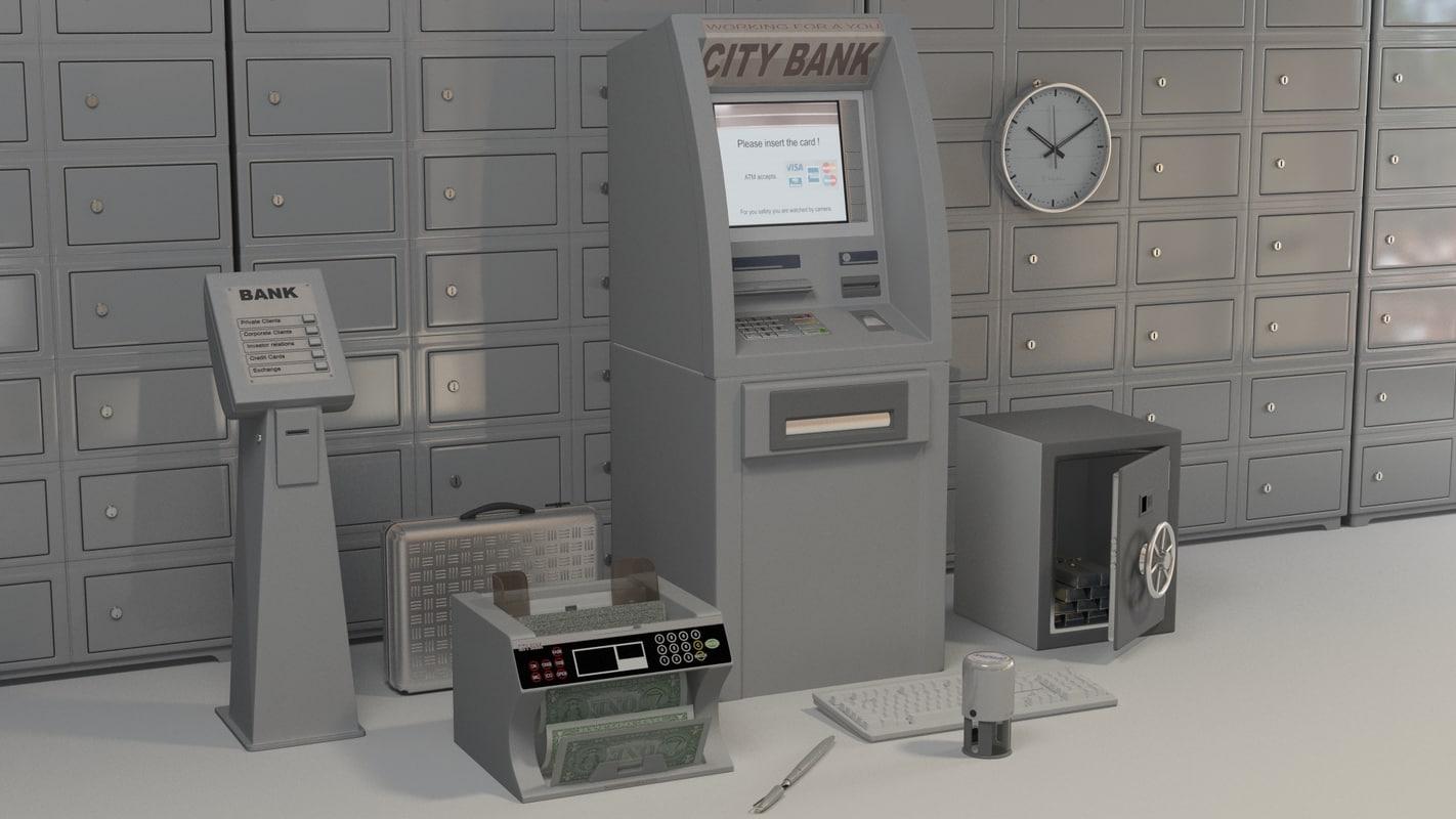 3d model bank accessories