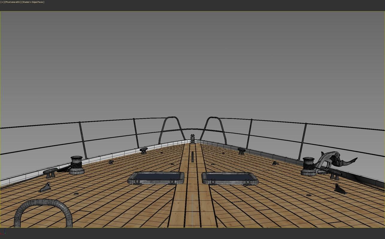 3d model boat deck