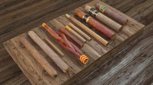 pack cigars 3d model
