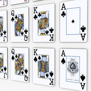 3d model deck poker cards pocker