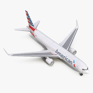 boeing 767-300f american airlines 3d model