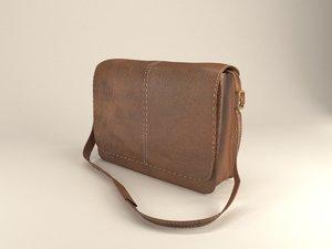 3d messenger bag model