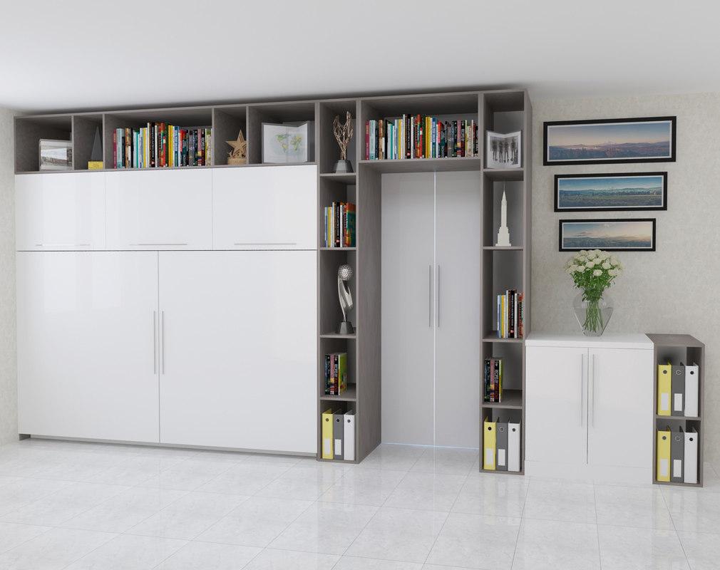 3d kitchen office closet