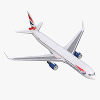 boeing 767-300er british airways 3d max