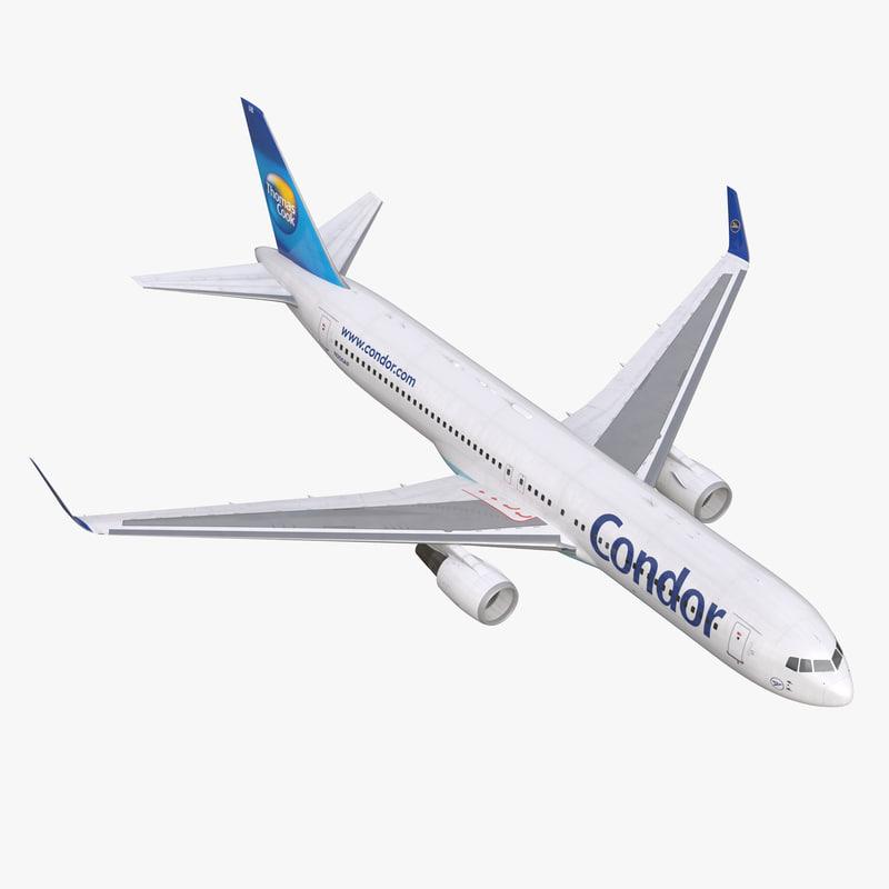 3d boeing 767-300er condor flugdienst model