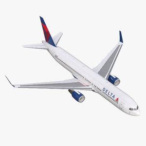 3d max boeing 767-300er delta air lines