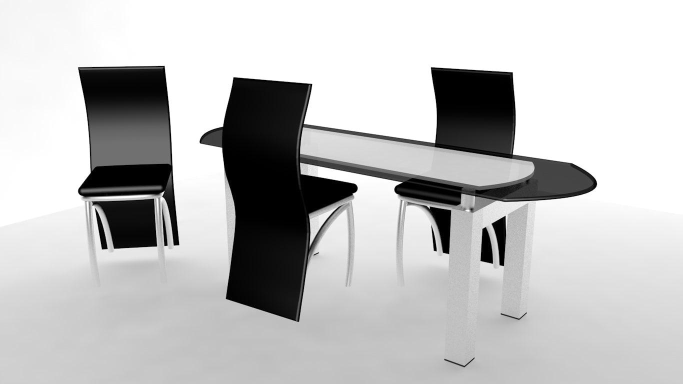3d c4d table living-room