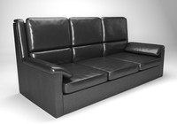 Leather sofa (Krider)