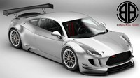 generic sports car gt 3d model