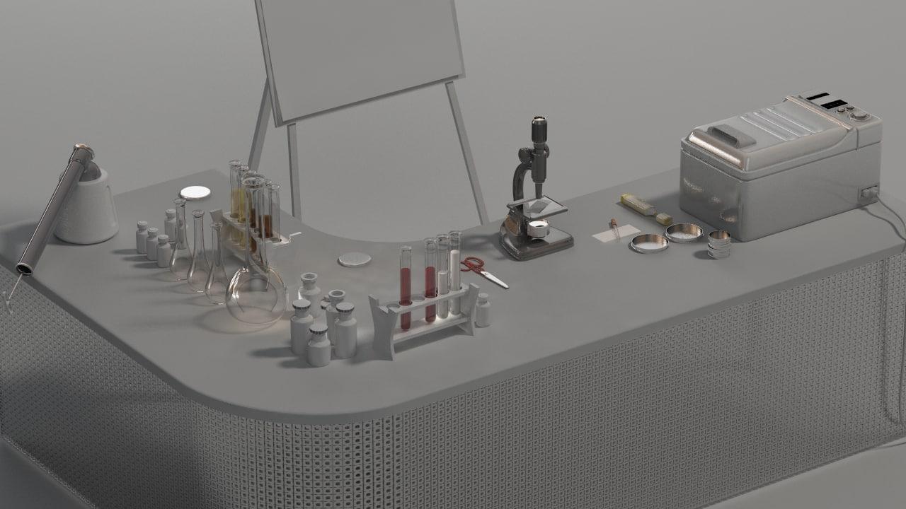 3d model equipment lab laboratory